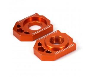 Motorrad CNC Heckkettenversteller Achsblöcke Für KTM SX SXF XC XCF EXC EXCF XCW XCFW 85 125 150 200 250 300 350 450 525 530