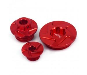 Motorrad CNC Motorsteuerung Oli Filterstopfen Schrauben Schraubensatz für HONDA CRF150R CRF250R CRF450R CRF450X Super Cub 125 CA125A