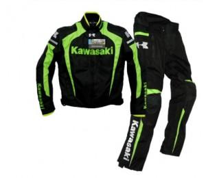 Kawasaki Kleidung / Oxford Jacke / Motorradjacke / Reitjacke und Hose / winddicht warm