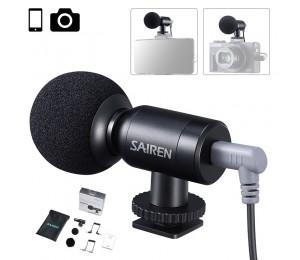 Sairen Nano Mic Tragbare Mini Rekord TRS TTRS Mikrofon für Gopro 8 7 6 5 Sony A6400 A6300 SLR Kamera smartphone Vlog Mic