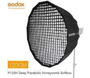 Godox Tragbare P120H 120CM Tiefe Parabolischen Honeycomb Grid Softbox Bowens Berg Studio Flash Reflektor Foto Studio Softbox