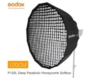 Godox Tragbare P120L 120CM Tiefe Parabolischen Honeycomb Grid Softbox Bowens Berg Studio Flash Reflektor Foto Studio Softbox