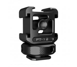 Ulanzi Triple Cold Shoe Mount Adapter Aluminiumlegierung mit 3 Kaltschuh Dual 1/4 Gewinde für Kameraverlängerung Mikrofon LED Light Magic Arm Mount
