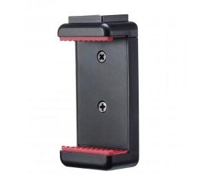 Ulanzi ST-07 Einstellbarer Telefonhalter Vlog Phone Clip mit 1/4 Zoll Schraubenlöchern ausziehbar Kaltschuh für 5,6-8,3 cm Breite Smartphone für Stativ LED Lichtmikrofon
