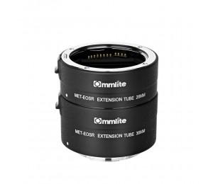 Commlite CM-MET-EOS R Automatische Makro-Verlängerungsröhre Kompatibel mit Canon EOS R Mount Kameras und Objektiven
