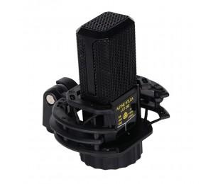 Professionelles Kondensator-Nierenmikrofon Geräuschloses XLR-Mikrofon-Mikrofon-Kit für Studioaufnahmen Live-Streaming Broadcasting Schwarz
