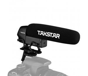 TAKSTAR SGC 600 Kondensator Interviewmikrofon vor der Kamera