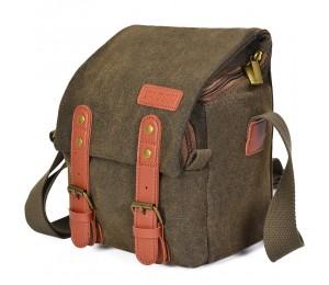 CADeN Canvas Schulterkameratasche Messenger Bag