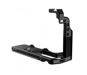UURig R033 Metall L Halterung Lederhandgriff mit Arca Swiss Typ Schnellverschlussplatte Design Kaltschuhhalterung und 1/4 Zoll Schraubenlöchern
