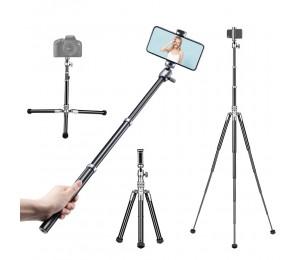 Ulanzi SK-04 Selfie Stick Stativständer 145 cm 8-teiliger 3-stufiger Stativwinkel