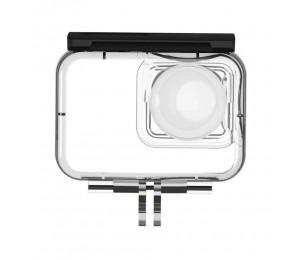 TELESIN IS-WTP-R01 Wasserdichtes Kameragehäuse 40 Meter Unterwassergehäuse Fotozubehör Kompatibel mit Insta360 ONE R 360 VR Edition Action-Kameras