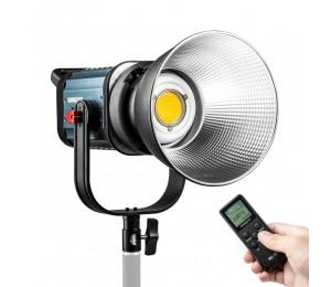 WeeyLite ninja 400 Intelligentes zweifarbiges COB-LED-Videolicht 2500K-8500K mit kontinuierlicher Ausgabe Bowens Mount Studio Light mit LCD Panel Controller 150W CRI 95+ APP-Steuerung