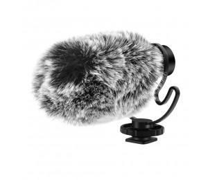 ORDRO CM-100 Mini-Aufnahmemikrofon 3,5-mm-Plug-and-Play mit Windschutzscheiben für Stoßdämpfer