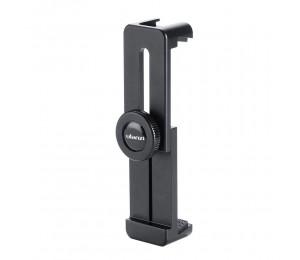 Ulanzi ST-02L Kompakthalter aus Aluminiumlegierung Mit 1/4 Zoll Stativhalterung Kalter Schuh für 5,5-9,3 cm Breite Smartphone