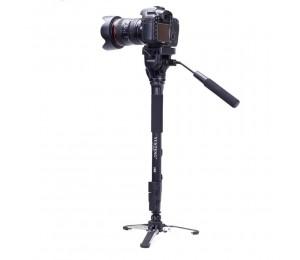 Yunteng VCT-288 Foto-Stativ Einbeinstativ & Fluid Pan Kopf & Einbeinstativ Halter für Canon Nikon Kamera
