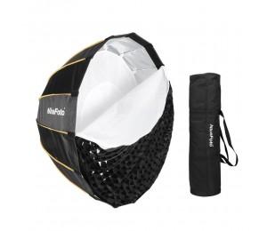 NiceFoto LED-Φ120cm Schnellmontage Faltbarer Regenschirm für Parabolregen Softbox mit gitter tragetasche durchmesser 120 cm / 47,2 zoll
