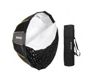 NiceFoto LED-Φ90cm Schnellmontage Faltbarer Regenschirm für Parabolregen Softbox mit gitter tragetasche durchmesser