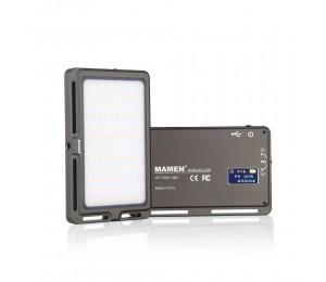 MAMEN LED-120B Ultradünne LED-Videolampe Dimmbare 3000K-6500K 120-teilige LEDs CRI95 Eingebauter Akku