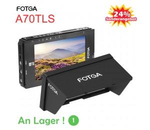FOTGA A70TLS 7 Zoll FHD Video On-Camera Feldmonitor IPS Touchscreen SDI 4K HDMI Ein- / Ausgang 3D LUT Dual NP-F Batterieplatte für A7S II GH5