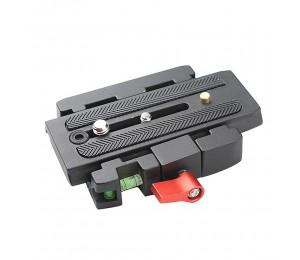 Schnellspanner + Schnellwechselplatte P200 Kompatibel mit Manfrotto 501 500AH 701HDV 503HDV Q5