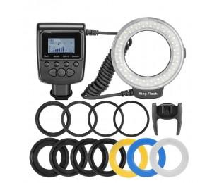 Andoer RF-550D Macro 48 LED Ringblitzlicht LCD Display Power Control Speedlite für Canon Nikon Pentax Olympus Sony