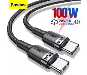 Baseus 100W USB C Zu USB Typ C Kabel USBC PD Schnelle Ladegerät Kabel USB-C 5A Typ-c kabel Für Xiaomi POCO X3 M3 Samsung Macbook iPad