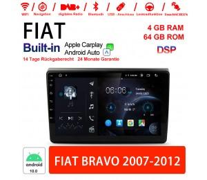 9 Zoll Android 10.0 Autoradio / Multimedia 4GB RAM 64GB ROM Für Fiat Bravo 2007-2012 Built-in Carplay