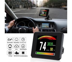 HUD Head Up Display P16 OBD Auto Wassertemperatur Digitalanzeige Kraftstoffverbrauch Geschwindigkeit Projektoranzeige