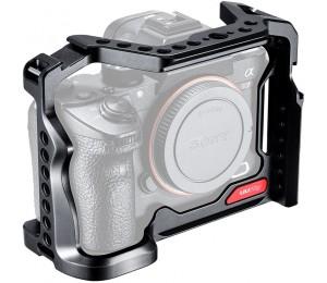UURig R063 Metall Kamera Käfig Ausrüstung Expansion Halterung Erweitern 2 Kalten Schuh Ports Mehrere 1/4 Gewinde Externe für Sony A7III