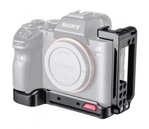 UURig R065 L Platte Halterung für Sony A7R3 A7M3 Mit Kalten Schuh Vertikale Schießen Halterung für Mikrofon LED Licht Vlog platte
