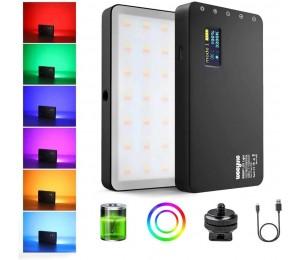 Viltrox Weeylite RB08P RGB LED Licht Volle Farbe Ausgang Kamera Video Licht Kit Dimmbare 2500K-8500K Bi-farbe Panel Licht mit Stativ