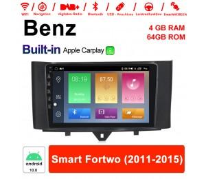 9 Zoll Android 10.0 Autoradio / Multimedia 4GB RAM 64GB ROM Für Mercedes Benz Smart Fortwo 2011 - 2015 Mit WIFI NAVI Built-in Carplay