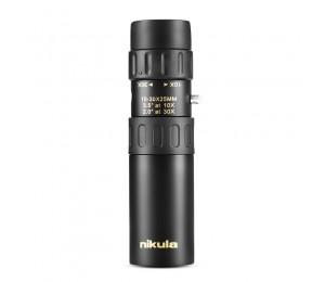 Nikula 10-30x25 Zoom Monokular Hochwertiges Teleskop Pocket Binokular Jagd Optisches Prisma