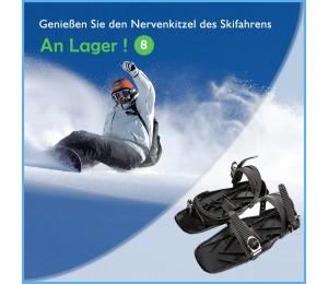 Mini Tragbare Ski Skates Schnee Schuhe Einstellbare
