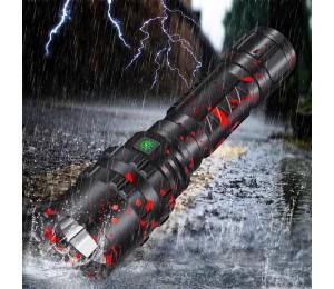 XANES 3320 P50 XHP50 1800Lumens USB wiederaufladbare LED-Taschenlampe mit 26650 Batterie - Tarnung