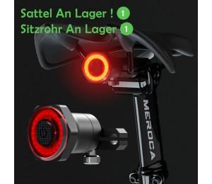 Smart Fahrrad Schwanz Rücklicht Auto Start Stop Brems IPX6 Wasserdichte USB Lade Fahrrad Led leuchten