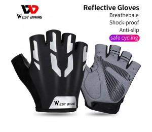 WEST BIKING Anti Slip Gel Pad Fahrrad Handschuhe Gel Pad Kurze Half Finger Radfahren Handschuhe Atmungsaktive Outdoor-Sport
