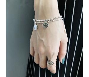 925 Silber Gradient Mondstein Zirkon Armband