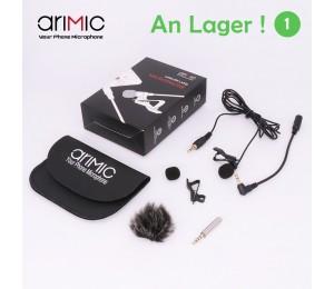 Ulanzi Arimic 1.5M Revers Lavalier-mikrofon Clip-auf Hände-freies 3,5mm Jack Kondensator Mic für iPhone 6/7/7 plus für interview Vorträge