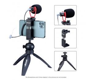 Ulanzi Smartphone Video Kit ST-02S Handy Halterung Montieren + MT-03 Stativ Desktop Flexible + VM-Q1 Mikrofon
