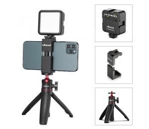 Ulanzi ST-02S Vlog Kit Mini LED Video Licht Erweiterbar Stativ Kalten Schuh Telefon Montieren Vlog Mount Kit Youtube Live Zubehör
