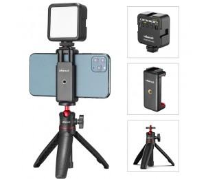 Ulanzi ST-07 Vlog Kit Mini LED Video Licht Erweiterbar Stativ Kalten Schuh Telefon Montieren Vlog Mount Kit Youtube Live Zubehör