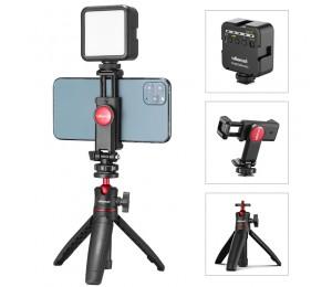Ulanzi ST-06 Vlog Kit Mini LED Video Licht Erweiterbar Stativ Kalten Schuh Telefon Montieren Vlog Mount Kit Youtube Live Zubehör