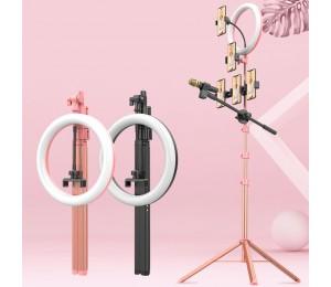 Ulanzi Füllen Licht Stativ Multi-funktion Live Handy Halterung LED Ring Licht Dimmbare Fotografie Selfie Stick Stand