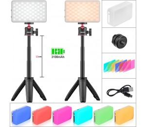 Ulanzi MT-08 VL120 Mini Stativ LED Licht Kit Dimmbare Füllen Licht mit Farbe Gel Live Broadcast Youtube Kit