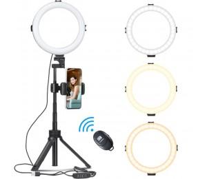 Ulanzi LED Ring Licht Mit Stative Telefon Clip Für Youtube Make-Up Live Füllen licht stativ für telefon mit ring licht