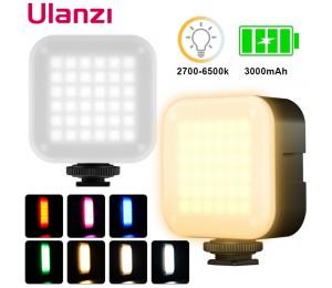 Ulanzi U-Bright Mini LED Video Beleuchtung 2700k-6500k 7,5 W mit 6 Farben RGB Wirkung filter Für fotografie Vlog Füllen Licht