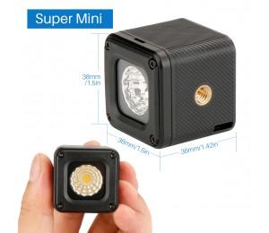 Ulanzi L1 Wasserdichte LED Video Licht auf Kamera DimmableAdventure Beleuchtung für DJI Yuneec Drohnen DJI Osmo Tasche DSLRs Gopro