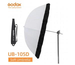 Godox UB-105D 105cm Weiß Parabolischen Reflektierende Transparent Weiche Umbrella Studio Licht Regenschirm mit Schwarz Silber Diffusor Abdeckung
