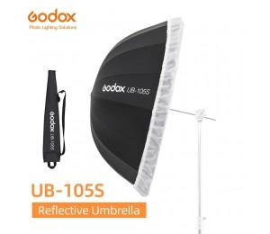 Godox UB-105S 41 zoll 105cm Parabolischen Schwarz Reflektierende Regenschirm Studio Licht Regenschirm mit Schwarz Silber Diffusor Abdeckung Tuch